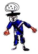 ¡Enojado! (detalle del dibujo de un niño)