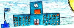 escuelita dibujada por un niño